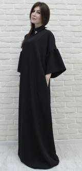Платье костюмка черное