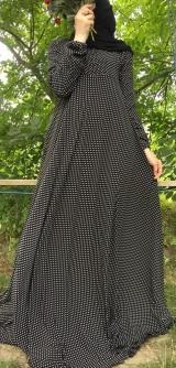 Платье креп-шифон горох