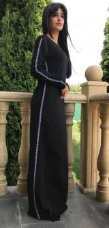 Платье стретч черное