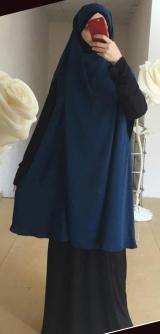 Химар с платьем синее