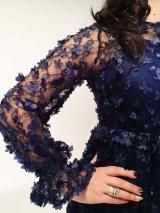 Платье 3D синее