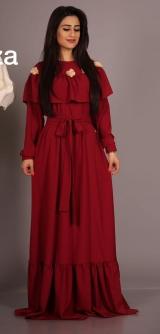 Платье с воланом цветы, цвета разные
