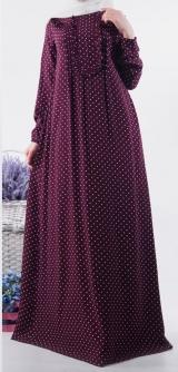 Платье Дамаск марсала штапель