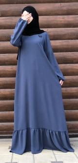 Платье креп синее