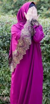 Платье с шарфом, шелк-штапель