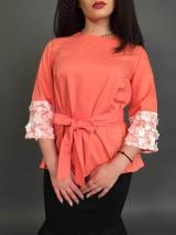 Блузка костюмка оранж