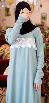 Платье мелиса голубое 1