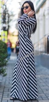 Платье в полоску скуба