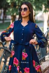 Платье 3Д принт синее