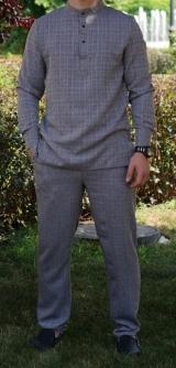 Мужской костюм лен 1
