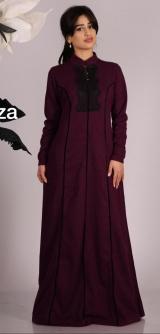 Платье с рельефами марсала