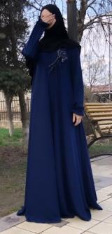 Платье абайное по косой