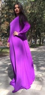 Платье трикотаж масло фиолет