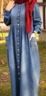 Платье халат Турция с вышивкой