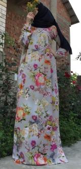 Платье креп-шифон поляна трапецией