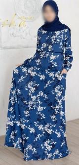 """Платье """" Гузель"""" синее"""