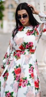Платье 3Д шелк
