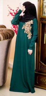 Платье барби с дорогой фурнитурой зеленое