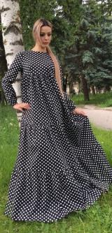 Платье хлопок горох