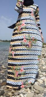 Платье креп-шифон полосочка трапецией