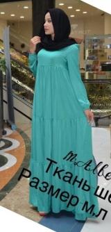 Платье шёлк бирюза