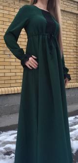Платье черное гипюр костюмка