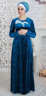 """М613 Платье """"Фианитовая ветвь"""" Бархат"""