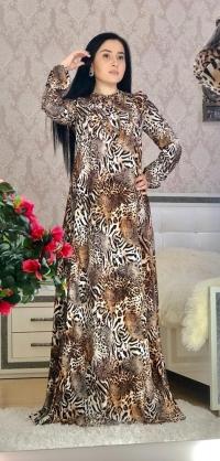 Платье штапель леопард