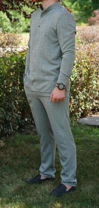 Мужской костюм лен 3