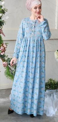 """М301 Платье """"Небо"""" до 66 Размера"""