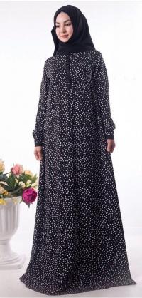 Платье :«Наима» черное горох