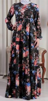 Платье штапель-шелк черное