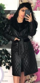 Куртка с мехом на синтепоне 52-54