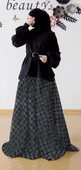 Костюм юбка, кофта, ремень