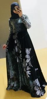 Платье велюр цветы2 с 42 по 58разм.