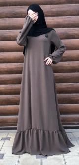 Платье креп коричневое