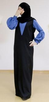 Двойка: сарафан с кофтой, синий/черный
