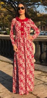 Платье цветочные разводы