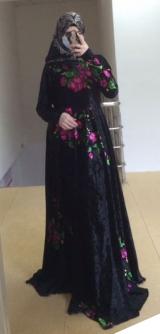 Платье велюр цветы с 42 по 58разм.