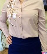 Блузка с вышивкой БЕЖ