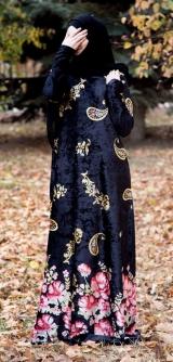 Платье велюр огурцы