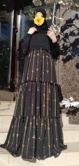 Платье с кокеткой из калифорнии