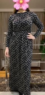 Платье на резинке трикотаж