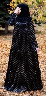 Платье велюр горох