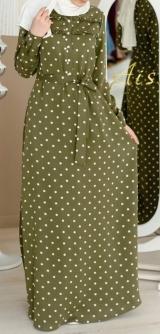 Платье Тенсел горох