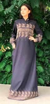 Платье с бархатным узором
