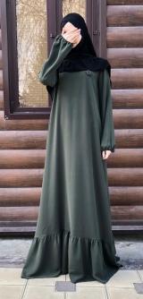 Платье креп зеленое