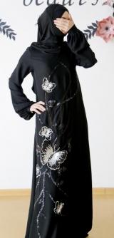 Платье с узором бабочки