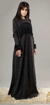 Платье Диодора ангора темно-серое