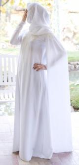 Платье-кейп белый